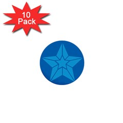 Star Design Pattern Texture Sign 1  Mini Buttons (10 Pack)