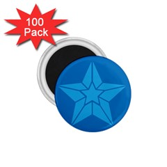 Star Design Pattern Texture Sign 1 75  Magnets (100 Pack)  by Nexatart