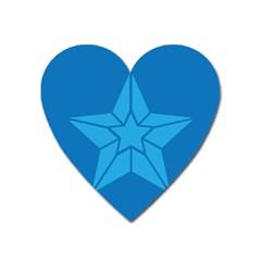 Star Design Pattern Texture Sign Heart Magnet by Nexatart