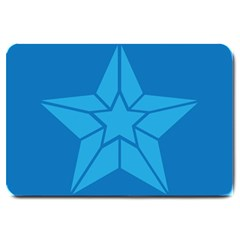 Star Design Pattern Texture Sign Large Doormat  by Nexatart
