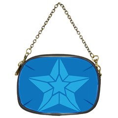 Star Design Pattern Texture Sign Chain Purses (one Side)  by Nexatart