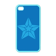 Star Design Pattern Texture Sign Apple Iphone 4 Case (color)