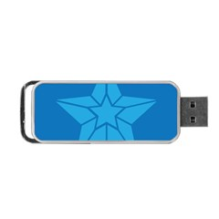 Star Design Pattern Texture Sign Portable Usb Flash (two Sides) by Nexatart
