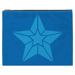 Star Design Pattern Texture Sign Cosmetic Bag (xxxl)