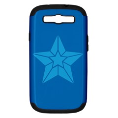 Star Design Pattern Texture Sign Samsung Galaxy S Iii Hardshell Case (pc+silicone)