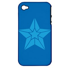 Star Design Pattern Texture Sign Apple Iphone 4/4s Hardshell Case (pc+silicone) by Nexatart