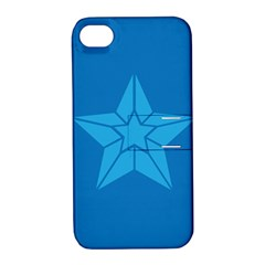 Star Design Pattern Texture Sign Apple Iphone 4/4s Hardshell Case With Stand by Nexatart