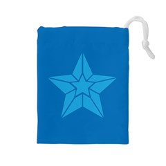 Star Design Pattern Texture Sign Drawstring Pouches (large)  by Nexatart