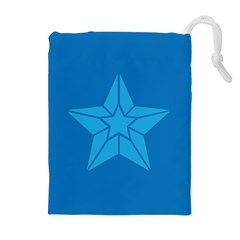 Star Design Pattern Texture Sign Drawstring Pouches (extra Large)