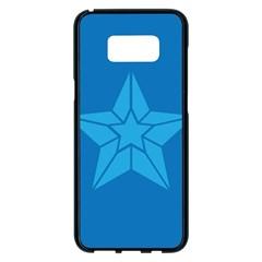 Star Design Pattern Texture Sign Samsung Galaxy S8 Plus Black Seamless Case