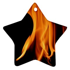Fire Flame Pillar Of Fire Heat Ornament (star)