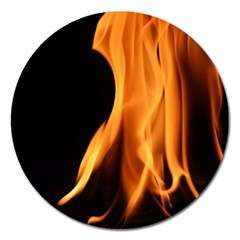 Fire Flame Pillar Of Fire Heat Magnet 5  (round)