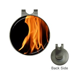 Fire Flame Pillar Of Fire Heat Hat Clips With Golf Markers by Nexatart