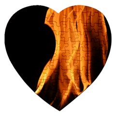 Fire Flame Pillar Of Fire Heat Jigsaw Puzzle (heart) by Nexatart