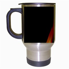 Fire Flame Pillar Of Fire Heat Travel Mug (silver Gray) by Nexatart