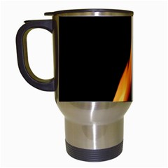 Fire Flame Pillar Of Fire Heat Travel Mugs (white) by Nexatart