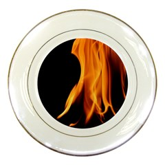 Fire Flame Pillar Of Fire Heat Porcelain Plates by Nexatart