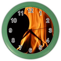Fire Flame Pillar Of Fire Heat Color Wall Clocks by Nexatart