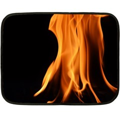 Fire Flame Pillar Of Fire Heat Double Sided Fleece Blanket (mini)  by Nexatart
