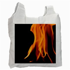 Fire Flame Pillar Of Fire Heat Recycle Bag (two Side)