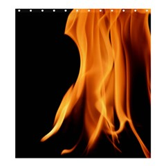 Fire Flame Pillar Of Fire Heat Shower Curtain 66  X 72  (large)  by Nexatart
