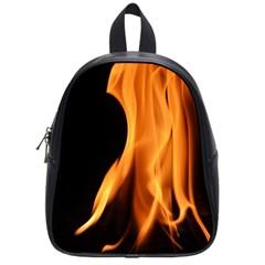 Fire Flame Pillar Of Fire Heat School Bags (small)  by Nexatart