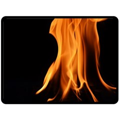 Fire Flame Pillar Of Fire Heat Fleece Blanket (large)  by Nexatart