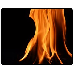 Fire Flame Pillar Of Fire Heat Fleece Blanket (medium)  by Nexatart