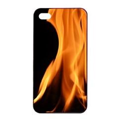 Fire Flame Pillar Of Fire Heat Apple Iphone 4/4s Seamless Case (black) by Nexatart