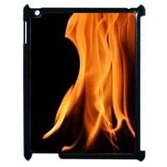 Fire Flame Pillar Of Fire Heat Apple Ipad 2 Case (black) by Nexatart
