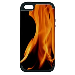 Fire Flame Pillar Of Fire Heat Apple Iphone 5 Hardshell Case (pc+silicone)