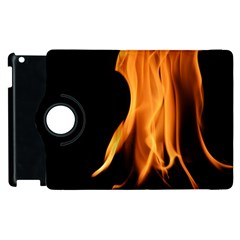 Fire Flame Pillar Of Fire Heat Apple Ipad 2 Flip 360 Case by Nexatart