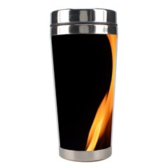 Fire Flame Pillar Of Fire Heat Stainless Steel Travel Tumblers by Nexatart