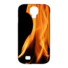 Fire Flame Pillar Of Fire Heat Samsung Galaxy S4 Classic Hardshell Case (pc+silicone) by Nexatart