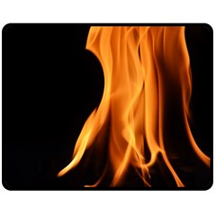 Fire Flame Pillar Of Fire Heat Double Sided Fleece Blanket (medium)  by Nexatart