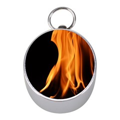 Fire Flame Pillar Of Fire Heat Mini Silver Compasses by Nexatart