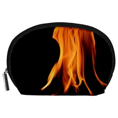 Fire Flame Pillar Of Fire Heat Accessory Pouches (large)  by Nexatart