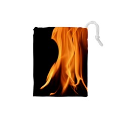 Fire Flame Pillar Of Fire Heat Drawstring Pouches (small)  by Nexatart