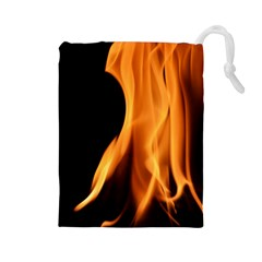 Fire Flame Pillar Of Fire Heat Drawstring Pouches (large)