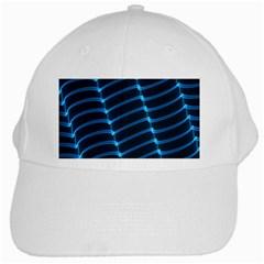 Background Light Glow Blue White Cap