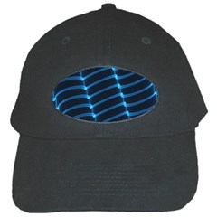 Background Light Glow Blue Black Cap by Nexatart