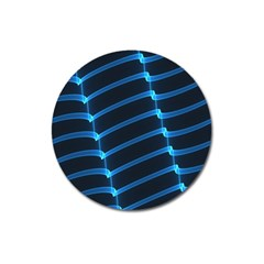 Background Light Glow Blue Magnet 3  (round) by Nexatart