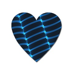Background Light Glow Blue Heart Magnet