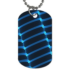 Background Light Glow Blue Dog Tag (two Sides) by Nexatart