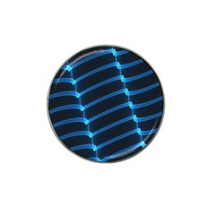 Background Light Glow Blue Hat Clip Ball Marker (4 Pack) by Nexatart