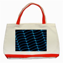 Background Light Glow Blue Classic Tote Bag (red)