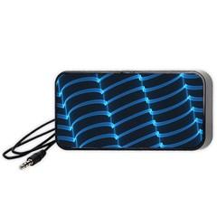 Background Light Glow Blue Portable Speaker (black) by Nexatart