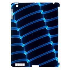 Background Light Glow Blue Apple Ipad 3/4 Hardshell Case (compatible With Smart Cover)
