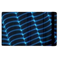 Background Light Glow Blue Apple Ipad 3/4 Flip Case