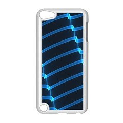 Background Light Glow Blue Apple Ipod Touch 5 Case (white)